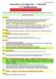Antwortfax und Themenliste des IBK Januar 2012