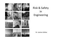 Risk & Safety in Engineering