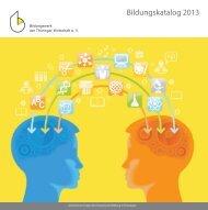 Bildungskatalog 2013 - Bildungswerk der Thüringer Wirtschaft e.V.