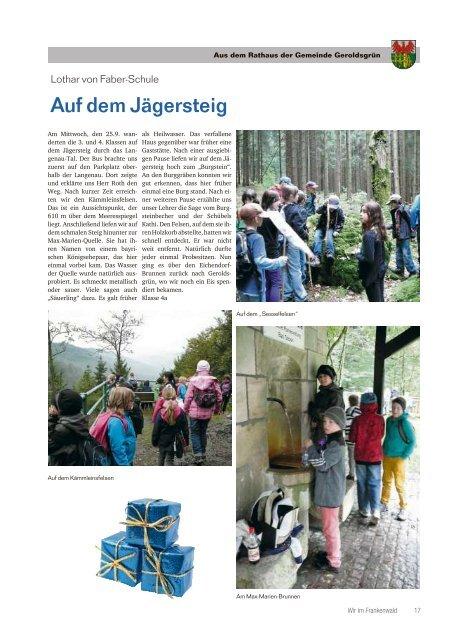 Wir im Frankenwald 49/2013 - Teil 2 - Gemeinde Geroldsgrün