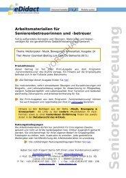 Arbeitsmaterialien Seniorenbetreuung - Wiener Opernball (Beitrag ...