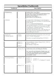 Fachbereich Sprachen 2005/2006