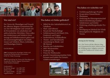 Flyer im pdf-Format - Albertus-Magnus-Gymnasium Rottweil