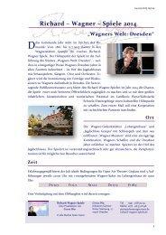 Richard – Wagner – Spiele 2014 - Euroregion Elbe/Labe