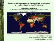 1. lasy w procesie zmian klimatu - Instytut Badawczy Leśnictwa