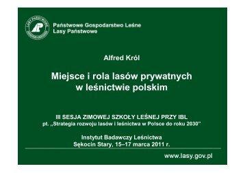 Charakterystyka lasów prywatnych - Instytut Badawczy Leśnictwa