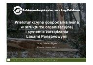 Wielofunkcyjna gospodarka leśna w strukturze organizacyjnej i ...