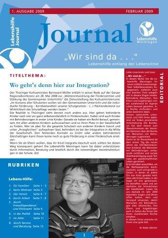 Journal - Lebenshilfe Meiningen