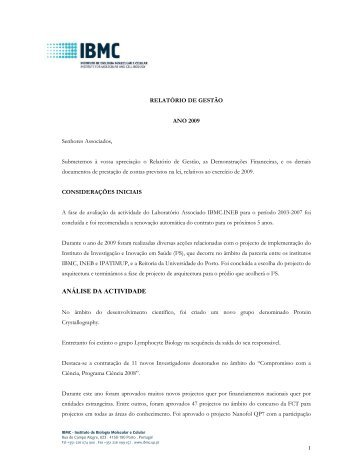 2009 [PDF] - IBMC - Universidade do Porto