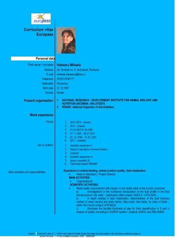 Curriculum vitae Europass - IBNA