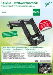Quicke Aktionsflyer - BayWa AG