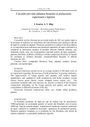 Cercetari privind calitatea furajului si prelucrarea superioara ... - IBNA