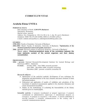 Curriculum vitae - IBNA