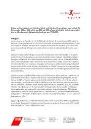 1 Hintergrundinformationen der Initiative Schule und Arbeitswelt zur ...