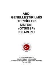 ABD Genelleştirilmiş Tercihler Sistemi (GTS/ GSP) - İhracat Bilgi ...