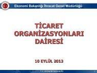 Ekonomi Bakanlığı İhracat Genel Müdürlüğü TİCARET HEYETİ ...