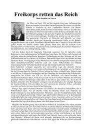 Freikorps retten das Reich - Das Deutschland Journal