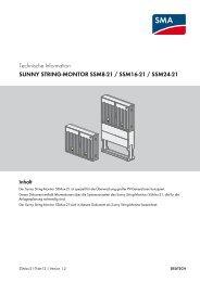 sunny string-montor ssm8-21 / ssm16-21 / ssm24-21 - SMA Solar ...