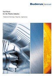 Tool Steels for the Plastics Industry - Buderus Edelstahl Gmbh