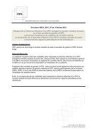 CBFA - Gestion collective de produits d'épargne - Organismes ... - IBR