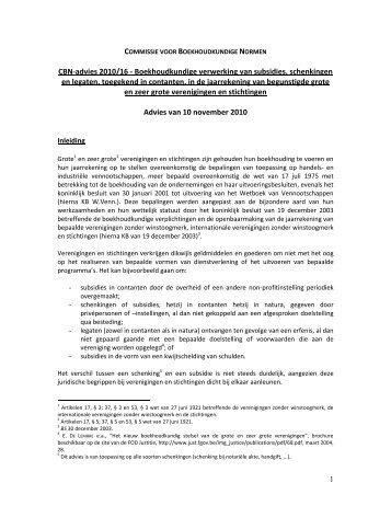 Boekhoudkundige verwerking van kapitaalsubsidies - Commissie ...