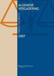 Jaarrekening 2006, begroting 2007 - IBR