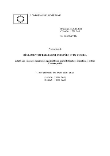 COM(2011) 779 final - EUR-Lex - Europa