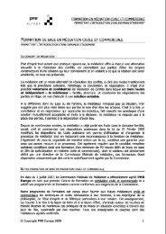 formation de base en médiation civile et commerciale - IBR