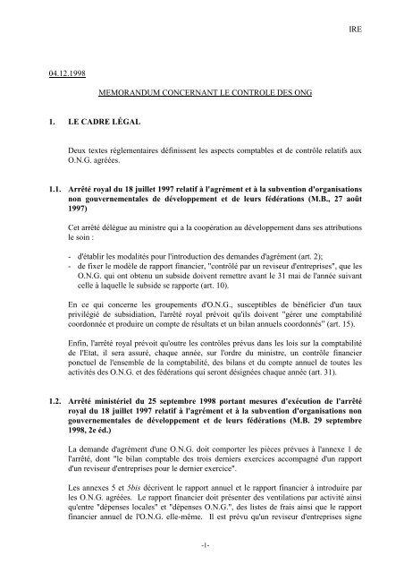 Memorandum Controle Ong Ibr
