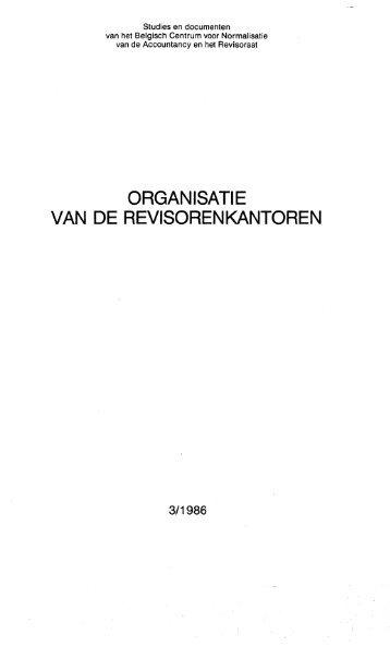 Organisatie van de revisorenkantoren - IBR