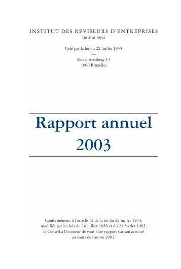 IRE-RA 2003-00 - IBR