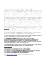 Aufbaukurs Katathym Imaginative Psychotherapie (KIP) in ... - AGKB