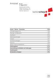 Amtsblatt Nr. 31 vom 2. August 2013 (214 KB) - Kanton Schwyz