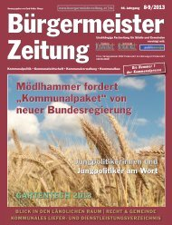 Ausgabe 8-9/2013 - Bürgermeister Zeitung