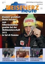 Eisenerz gratuliert Mario Stecher zum Silbermedaillen- gewinn bei ...