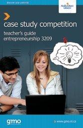 Entrepreneurship 3209 Case Study Competition Teacher's Guide