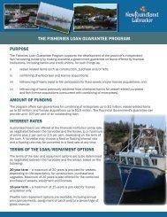 THE FISHERIES LOAN GUARANTEE PROGRAM