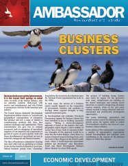 business clusters - Innovation, Business and Rural Development ...