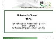 Studie Wettberwerbsfähigkeit Rail/Road - (IBS) eV