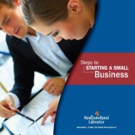 Small Business Guide - Innovation, Business and Rural Development