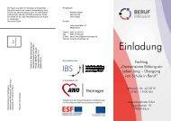 Veranstaltungsflyer - Die IBS GmbH
