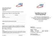 Qualifizierung in der Kindertagespflege - Die IBS GmbH