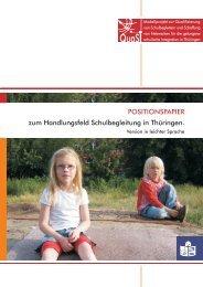 POSITIONSPAPIER zum Handlungsfeld ... - Die IBS GmbH