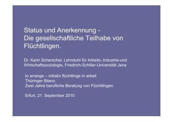 Status und Anerkennung - Die gesellschaftliche Teilhabe von ...