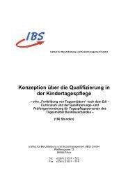 Konzeption über die Qualifizierung in der ... - Die IBS GmbH