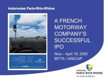 A FRENCH MOTORWAY COMPANY'S SUCCESSFUL IPO