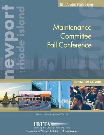 Maintenance Committee Fall Conference - International Bridge ...