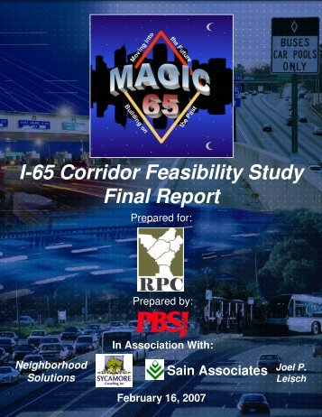 I-65 Corridor Feasibility Study Final Report - International Bridge ...