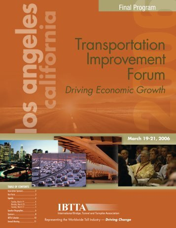 Transportation Improvement Forum - International Bridge, Tunnel ...