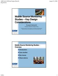 Key Considerations in the Design of a Mobile Source Emissions Study